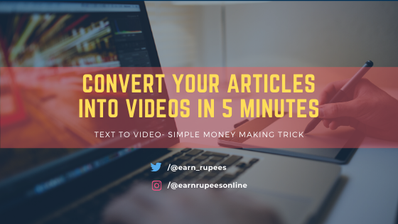 Convert articles into videos in just 5 minutes