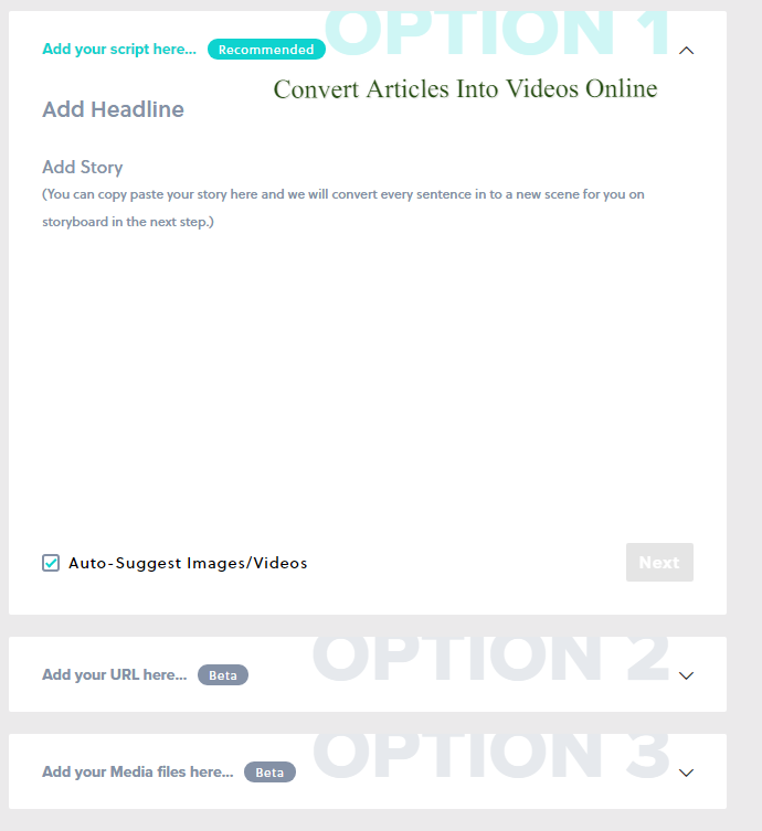 Convert articles into videos