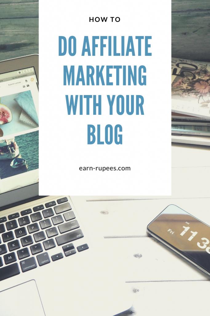 How to do affilaite marketing with a blog