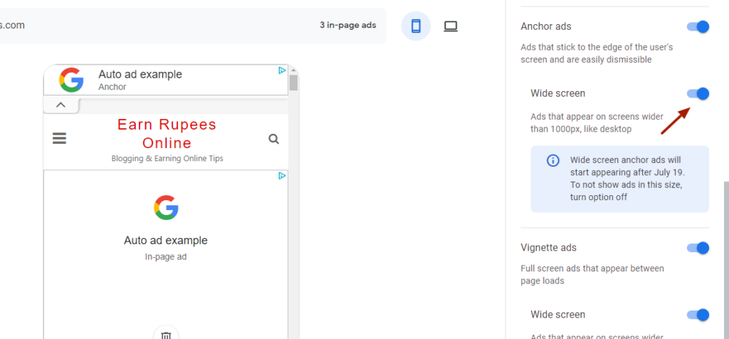 Display Anchor Ads Google AdSense