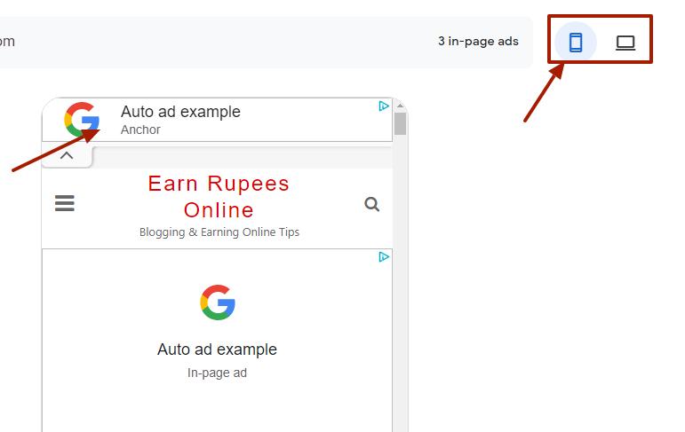 Anchor Ads Google Adsense